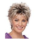 halpa Synteettiset peruukit ilmanmyssyä-Ombre Suora Pixie-leikkaus Synteettiset hiukset Luonnollinen hiusviiva Kulta / Burgundi Peruukki Naisten Lyhyt Suojuksettomat / Kyllä