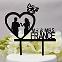 cheap Cake Toppers-Cake Topper Classic Theme / Wedding New Acryic / Polyester Wedding / Anniversary with Acrylic 1pcs OPP