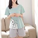 ieftine Brățări la Modă-Pentru femei În U Costume Pijamale Bloc Culoare / Vară