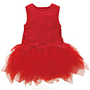 preiswerte Haarzöpfe-Baby Mädchen Blumen Ärmellos Kleid