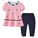 ieftine Set Îmbrăcăminte Băieți Bebeluși-Bebelus Fete Imprimeu Manșon scurt Set Îmbrăcăminte