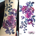 abordables Tatuajes Temporales-Adhesivo / Pegatina tatuaje brazo Los tatuajes temporales 3 pcs Series de Flor / Serie romántica Artes de cuerpo