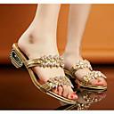ieftine Sandale de Damă-Pentru femei Pantofi PU Vară Confortabili Sandale Toc Îndesat Auriu / Negru / Argintiu