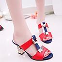 ieftine Sandale de Damă-Pentru femei PU Vară Confortabili Sandale Toc Îndesat Negru / Rosu