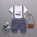 cheap Boys' Clothing Sets-Kids / Toddler Boys' Active / Basic Daily / Holiday Print Print Short Sleeve Regular Cotton / Acrylic Clothing Set Blue