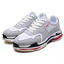 זול סניקרס לגברים-בגדי ריקוד גברים PU סתיו נוחות נעלי אתלטיקה ריצה קולור בלוק שחור / אפור / כחול