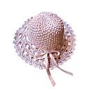 abordables Tocados de Fiesta-Mujer Lazo Sombrero de Paja / Sombrero para el sol - Básico / Vacaciones Un Color / Tejido / Verano