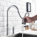 preiswerte Küchenarmaturen-Armatur für die Küche - Moderne Chrom Hoch / High-Arc 3-Loch-Armatur