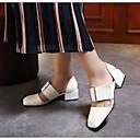 זול נעלי עקב לנשים-בגדי ריקוד נשים נעליים PU אביב בלרינה בייסיק / נוחות עקבים עקב עבה ל לבן / שחור / צהוב