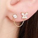 cheap Earrings-Women's Stud Earrings / One Earring - 18K Gold Plated, S925 Sterling Silver Bowknot Dainty, Sweet Gold For Gift / Daily
