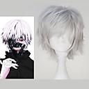 preiswerte Kigurumi Pyjamas-Cosplay Perücken Tokyo Ghoul Ken Kaneki Anime Cosplay Perücken 81.28 cm CM Hitzebeständige Faser Herrn Halloween Kostüme