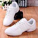 olcso Tánccipők-Női Tánccipők PU Sportcipő Alacsony Dance Shoes Fehér / Teljesítmény / Gyakorlat
