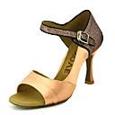 abordables Zapatos de Baile Latino-Mujer Zapatos de Baile Latino / Zapatos de Salsa Satén Sandalia / Tacones Alto Hebilla / Corbata de Lazo Tacón Personalizado Personalizables Zapatos de baile Amarillo / Fucsia / Morado / Rendimiento