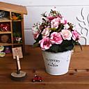 hesapli Hediyelik Kapları-Yapay Çiçekler 1 şube Retro Güller Masaüstü Çiçeği