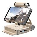זול קופסאות טלוויזיה-gamesir מקלדת אלחוטית ועכבר ממיר לעמוד עבור הטלפון החכם, תמיכה fortnite, מקלדת Bluetooth נייד ועכבר ממיר לעמוד מתכת 1 יח 'יחידה