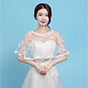 זול עליוניות לחתונה-ללא שרוולים תחרה חתונה / מסיבה\אירוע ערב כיסויי גוף לנשים עם תחתית עטורה תחרה גלימות