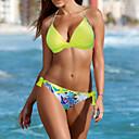 preiswerte Angelruten-Damen Boho Bandeau Bikinis - Druck, Pflanzen Trägerlos Cheeky-Bikinihose Tropisches Blatt / Sexy