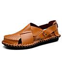 ieftine Sandale Bărbați-Bărbați Piele Vară Confortabili Sandale Negru / Maro Deschis / Maro Închis