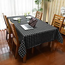 cheap Table Cloths-Contemporary Square Table Cloth Striped Table Decorations 1 pcs