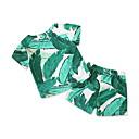 ieftine Set Îmbrăcăminte De Familie-Adulți / Copii / Copil Băieți Tropical Leaf Floral Manșon scurt Costum Baie