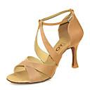 baratos Sapatos de Dança Latina-Mulheres Sapatos de Dança Latina / Sapatos de Salsa Cetim / Seda Sandália / Salto Presilha / Cadarço de Borracha Salto Personalizado