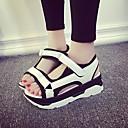 זול מגפי נשים-בגדי ריקוד נשים נעליים טול / PU קיץ נוחות סנדלים פלטפורמה לבן / שחור / כסף