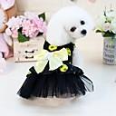 baratos Roupas para Cães-Cachorros Gatos Animais Pequenos Peludos Animais de Estimação Vestidos Roupas para Cães Poá Princesa Laço Amarelo Fúcsia Combinação