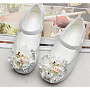 cheap Girls' Clothing Sets-Girls' Shoes Tulle Spring Comfort / Flower Girl Shoes Flats for White / Pink