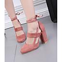 ieftine Sandale de Damă-Pentru femei Pantofi PU Vară Confortabili Sandale Toc Îndesat Albastru / Roz / Roșu Vin / Dantelat