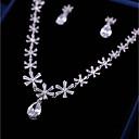 tanie Zestawy biżuterii-Damskie Cyrkonia Biżuteria Ustaw - Kwiat Słodkie, Moda Zawierać Kolczyki drop Naszyjniki z wisiorkami Biały Na Ślub Impreza