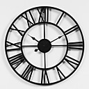 "cheap Wall Clocks-Wall Clock,Rustic Designed in China Rhodium Plated Metal Round Indoor / Outdoor Indoor Outdoor 20"" x 20"" (50cm x 50cm)"