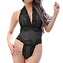 זול מגנים לטלפון & מגני מסך-בגדי ריקוד נשים חליפות Nightwear רשת, סרוג / קולר