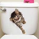 cheap Wall Stickers-Fridge Stickers Toilet Stickers - Animal Wall Stickers Animals 3D Living Room Bedroom Bathroom Kitchen Dining Room Study Room / Office
