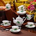 baratos Canecas e Copos-9pcs Porcelana Jogo de Chá Heatproof ,  13.5*20;12.7*12.4;7.5*6.8;11.5*9.7;10.2*10.2cm