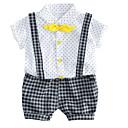 ieftine Pantaloni Băieți-Copil Băieți De Bază Sport Buline / Imprimeu Imprimeu Manșon scurt Bumbac Set Îmbrăcăminte / Draguț