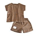 tanie Spodnie dla chłopców-Dzieci Dla chłopców Podstawowy Prążki Krótki rękaw Komplet odzieży