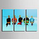 ieftine Imprimeuri-Imprimeu Imprimeuri pânză întinse - Supereroi & Malefici Desene Animate Modern