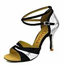 povoljno Cipele za latino plesove-Žene Plesne cipele Baršun Cipele za latino plesove / Cipele za salsu Kopča / Ukrasna trakica Sandale / Štikle Potpetica po mjeri Moguće personalizirati Srebro / Crvena / Plava / Profesionalac / EU40