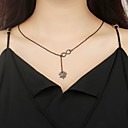 cheap Necklaces-Pendant Necklace - Floral / Botanicals, Flower, Infinity Simple Gold, Black, Silver 60 cm Necklace Jewelry For Party / Evening, Daily, Street
