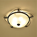 cheap Chandeliers-3-Light Flush Mount Ambient Light Painted Finishes Metal Glass Eye Protection 110-120V / 220-240V Bulb Not Included / E26 / E27
