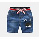 ieftine Pantaloni Băieți-Bebelus Băieți De Bază Zilnic Imprimeu Bumbac / Spandex Blugi Bleumarin 100 / Copil