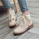 זול מגפי נשים-בגדי ריקוד נשים נעליים PU חורף נוחות מגפיים עקב טריז בוהן עגולה אפור / צהוב / חום
