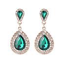 cheap Earrings-Crystal Long Drop Earrings - Drop Sweet, Fashion, Elegant Black / Green / Blue For Wedding / Party / Evening