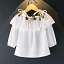 ieftine Pantaloni Fete & Leginși-Copii Fete Vintage / Activ Mată / Floral Cu Șiret / Brodat Manșon Lung Bumbac Bluză