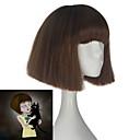 povoljno Sintetičke perike bez kape-Cosplay Cosplay Cosplay Wigs Uniseks 10 inch Otporna na toplinu vlakna Braon Anime