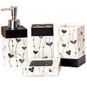 זול מוצרי חשמל ביתיים-סט של אביזרים לאמבטיה / מחזיק למברשת שיניים / סבון כלים & מחזיקים יצירתי קרמי 4pcs - חדר אמבטיה