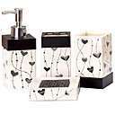 cheap Gags & Practical Jokes-Bathroom Accessory Set / Toothbrush Holder / Soap Dishes & Holders Creative Ceramic 4pcs - Bathroom