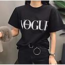 tanie Akcesoria do pieczenia-T-shirt Damskie Wyjściowe Litera