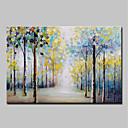 tanie Obrazy olejne-Hang-Malowane obraz olejny Ręcznie malowane - Abstrakcja / Kwiatowy / Roślinny Vintage / Tradycyjny Płótno / Rozciągnięte płótno