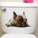 abordables Adhesivos de Pared-Calcomanías Para la Refrigeradora Calcomanías de Inodoros - Pegatinas de pared de animales Animales 3D Sala de estar Dormitorio Baño